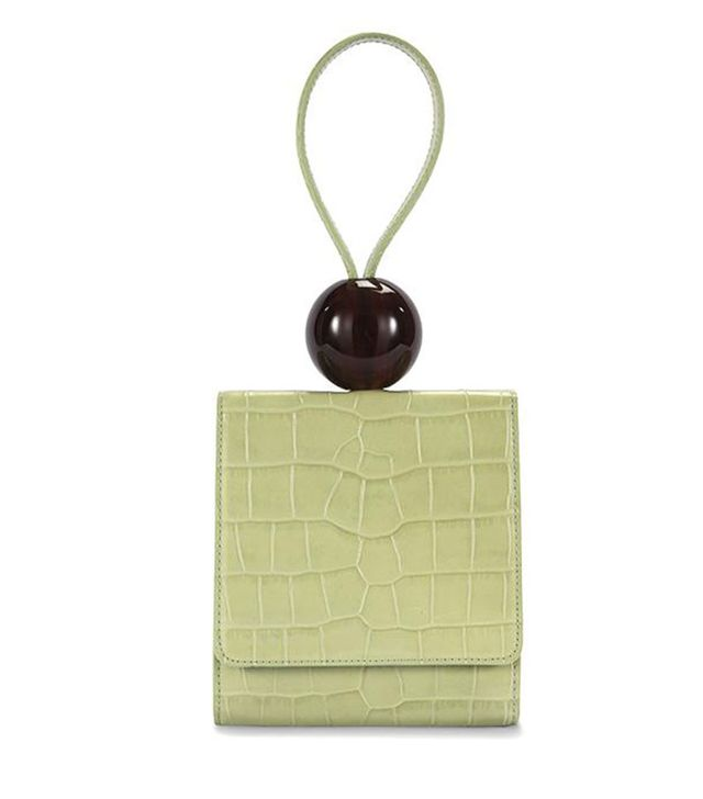 By Far Ball Croc-Effect Leather Tote