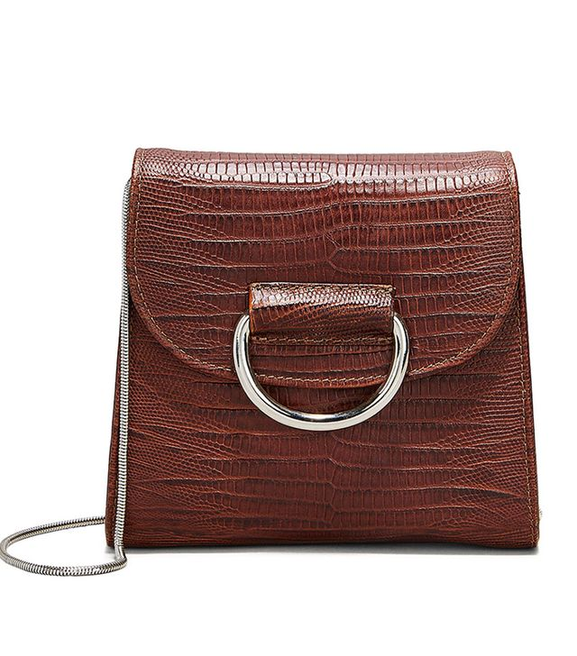 Little  Liffner Tiny Box Embossed Shoulder Bag