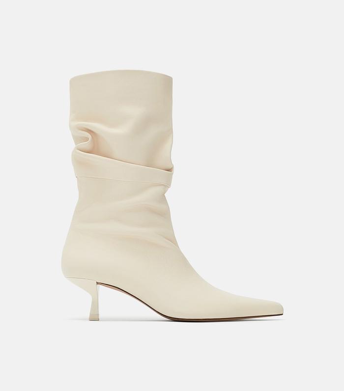 1c9544cd626 Pinterest · Shop · Zara High Heeled Leather Boots ...
