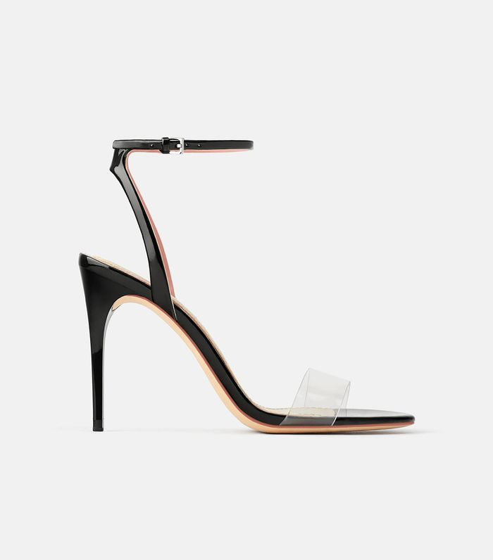96be70d2a Pinterest · Shop · Zara High Heeled Vinyl Sandals ...