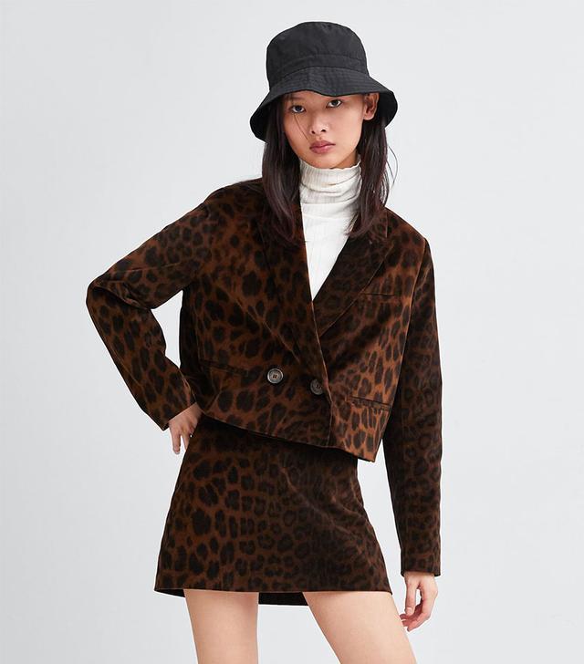 Zara Animal Print Jacket