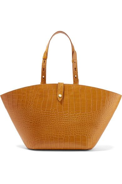 Nanushka Carmen Croc-Effect Leather Tote