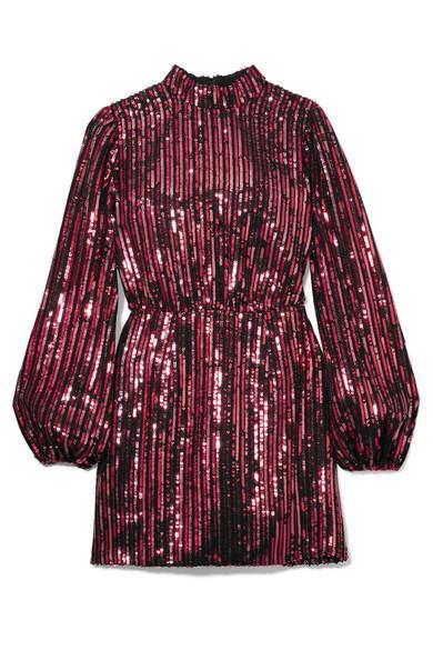 RIXO + Laura Jackson Samantha Sequined Crepe Mini Dress