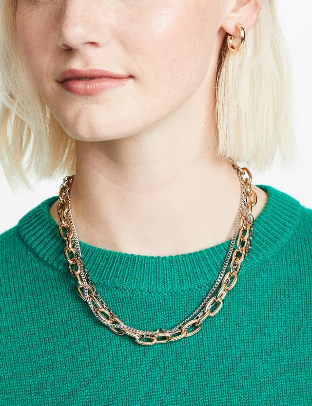 Rebecca Minkoff Tubular Multi Chain Necklace