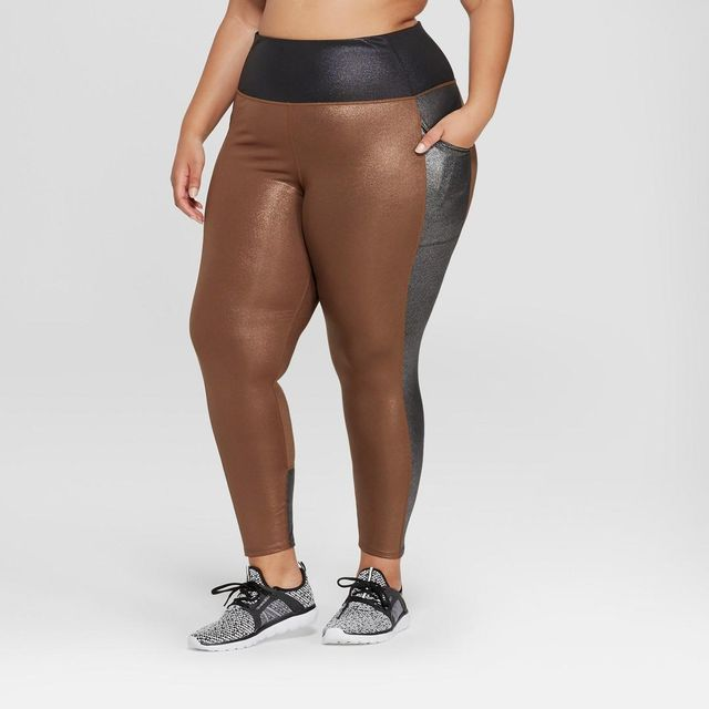 JoyLab 7/8 High-Waisted Shine Leggings With Side Pockets