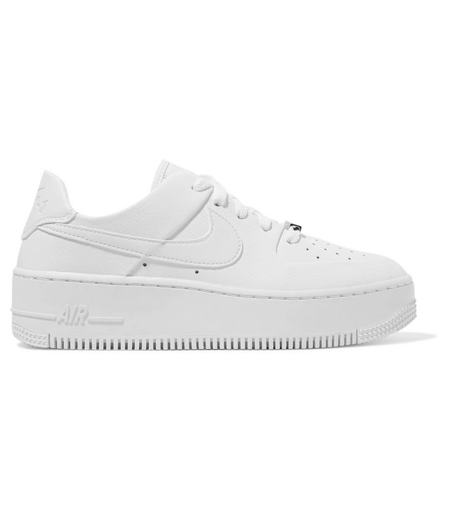 Nike Air Force 1 Sage Textured-Leather Sneakers