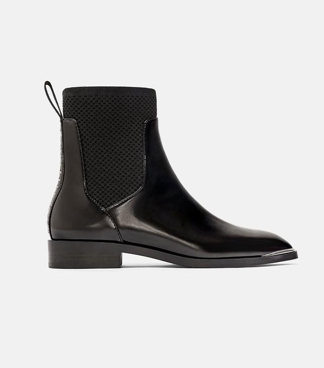 Zara Chelsea Sock-Like Boots