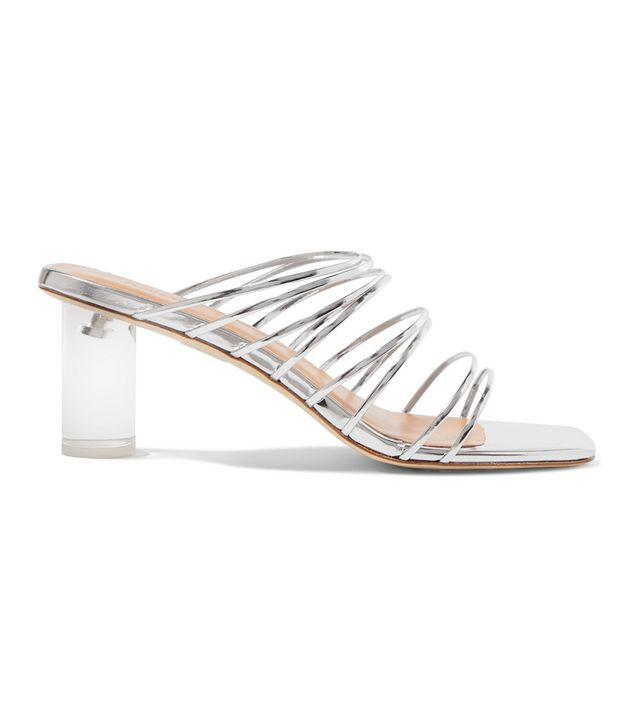 Rejina Pyo Zoe Metallic Leather and Perspex Sandals