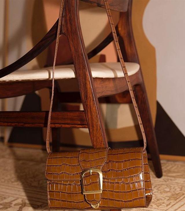 Rylan Studios Chocolate Croc Emboss Small Bag