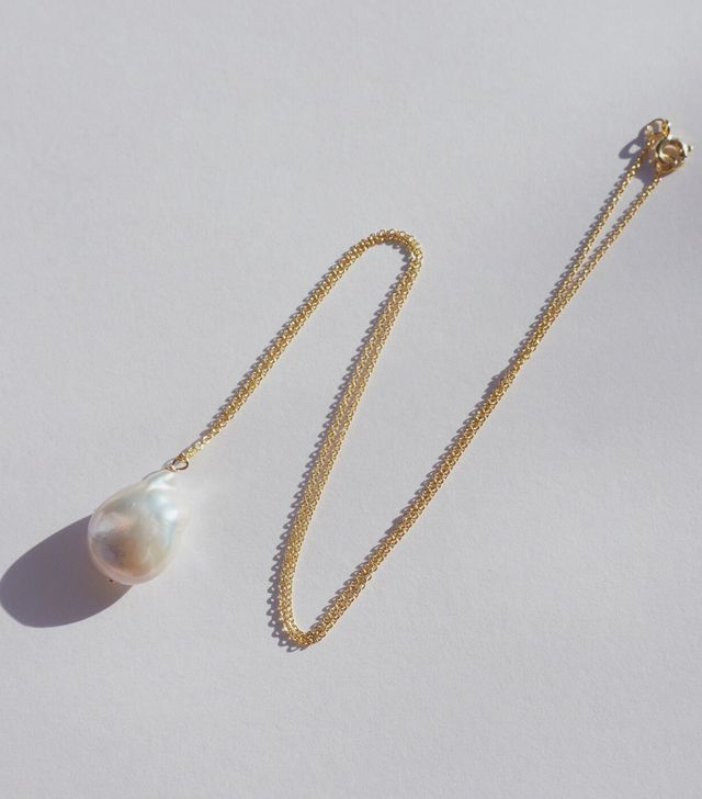NST Flat Baroque Pearl Necklace