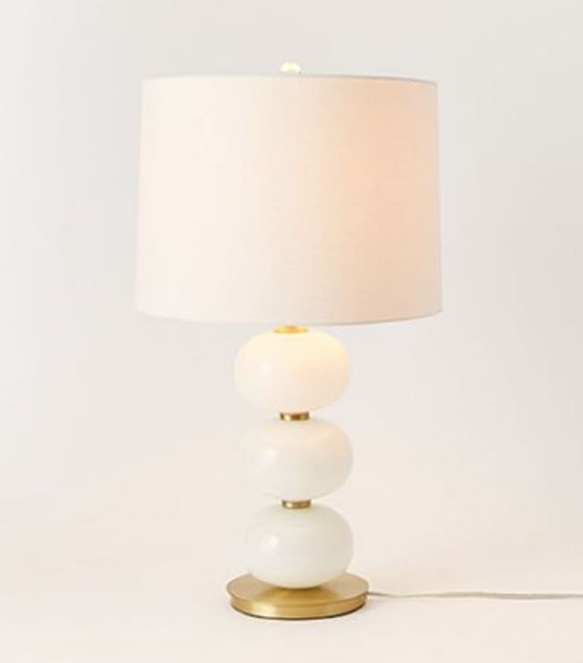 West Elm Abacus Table Lamp — Milk White