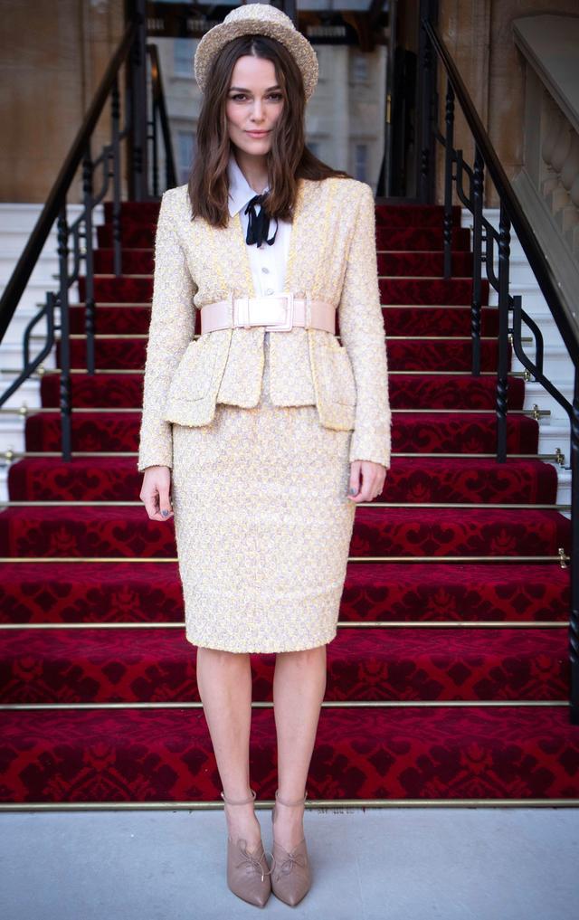 Keira Knightley at Buckingham Palace