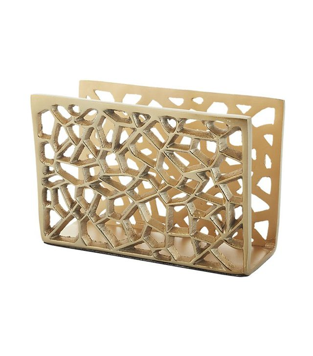 CB2 Marais Gold Letter Holder