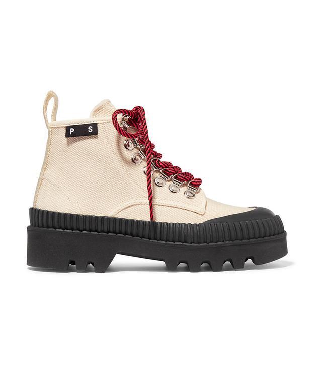 Proenza Schouler Cotton-Canvas Ankle Boots