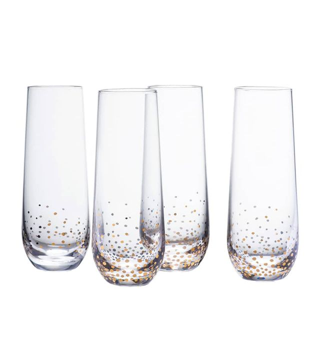 Amaerican Atelier Luster Stemless Champagne Flutes, Set of 4