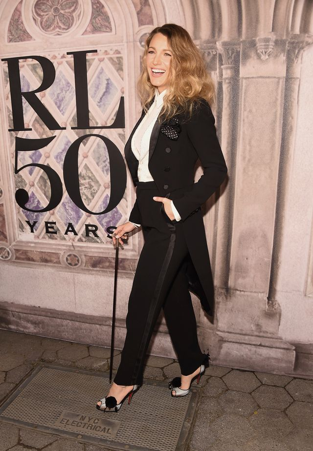 Blake Lively wearing a suit