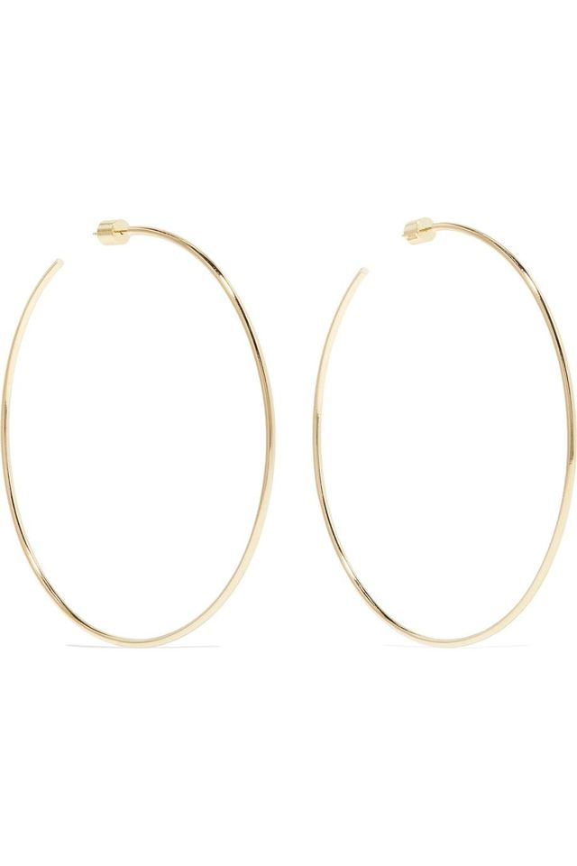 Jennifer Fisher Skinny Gold-Tone Hoop Earrings