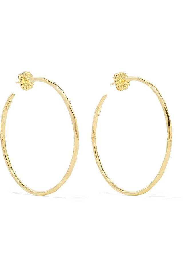 Ippolita Classico Bastille 18-Karat Gold Hoop Earrings