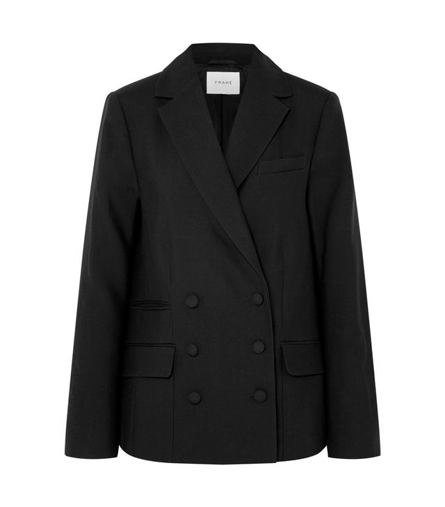 Frame Double-Breasted Wool Blazer