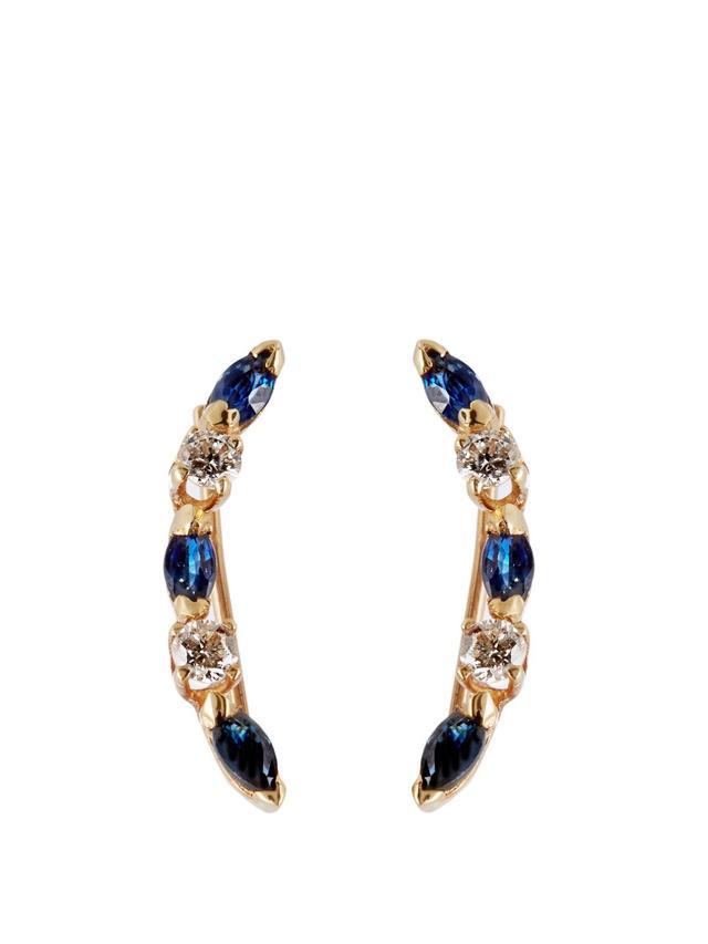 Loren Stewart Sapphire & Yellow-Gold Single Earring