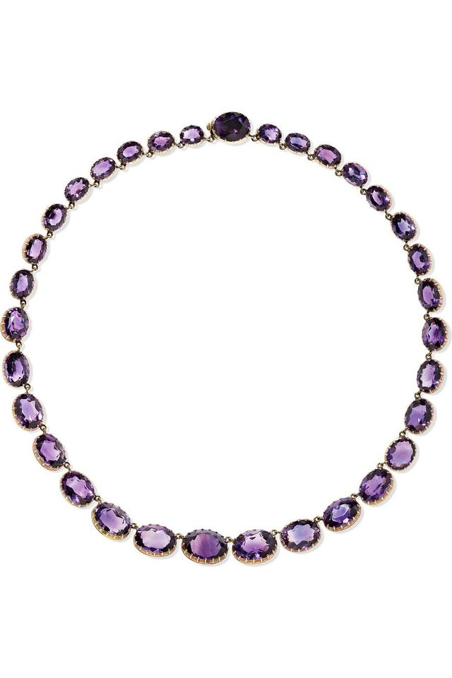 Fred Leighton Victorian 15-Karat Rose Gold Amethyst Necklace