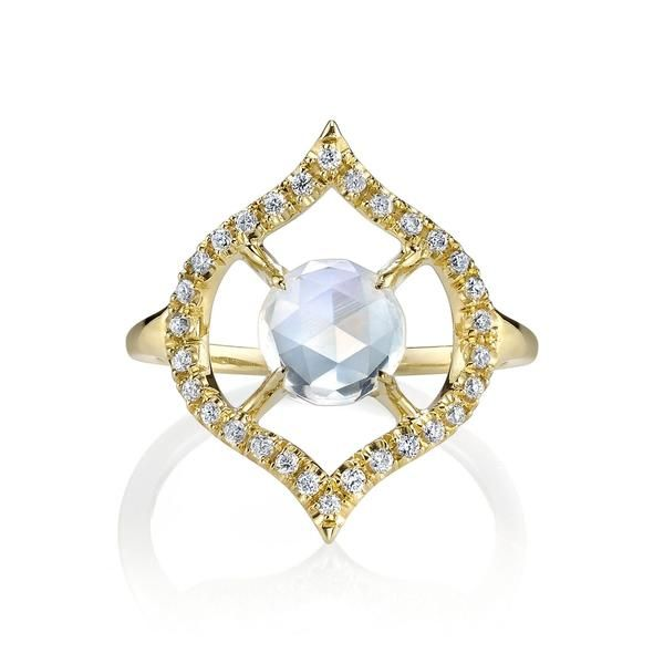 Ark Fine Jewelry Small Nectar Ring With Moonstone