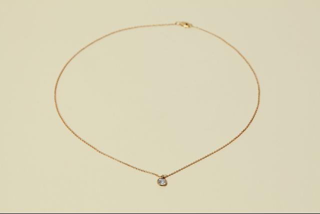 The Clear Cut Bezel Set Diamond Pendant Necklace