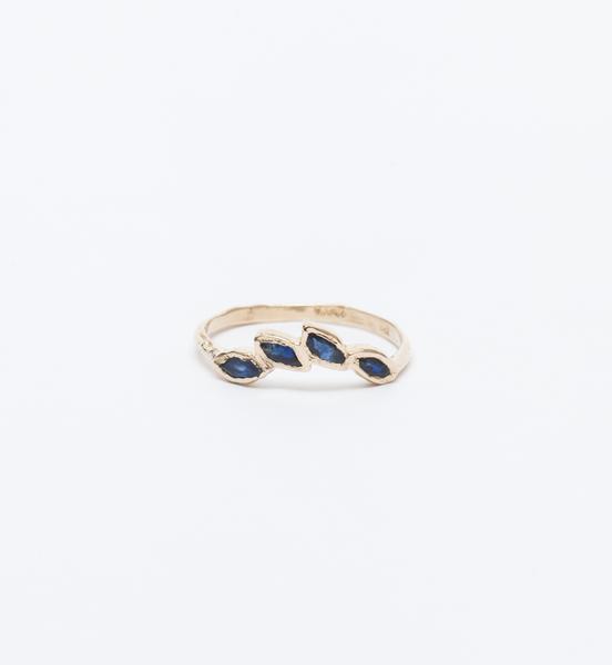 Misa Petal Sapphire Ring