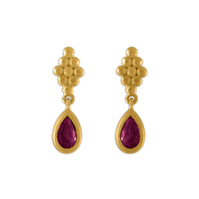 Prounis Small Ruby Nona Earrings