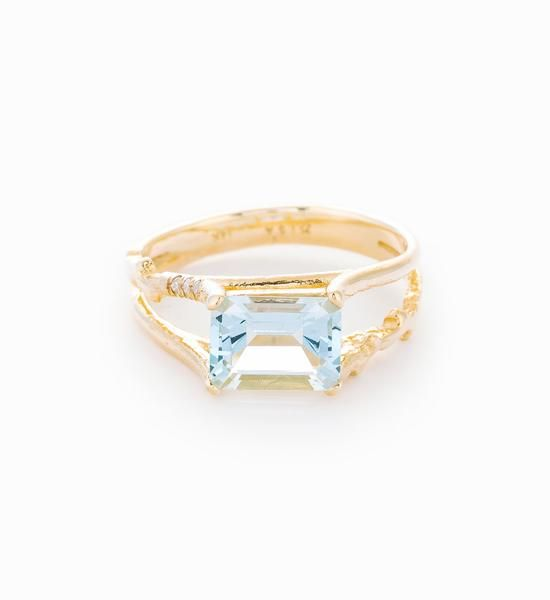 Misa Aquamarine Floating Ring
