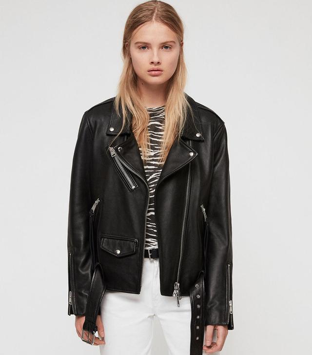 AllSaints Billie Leather Jacket
