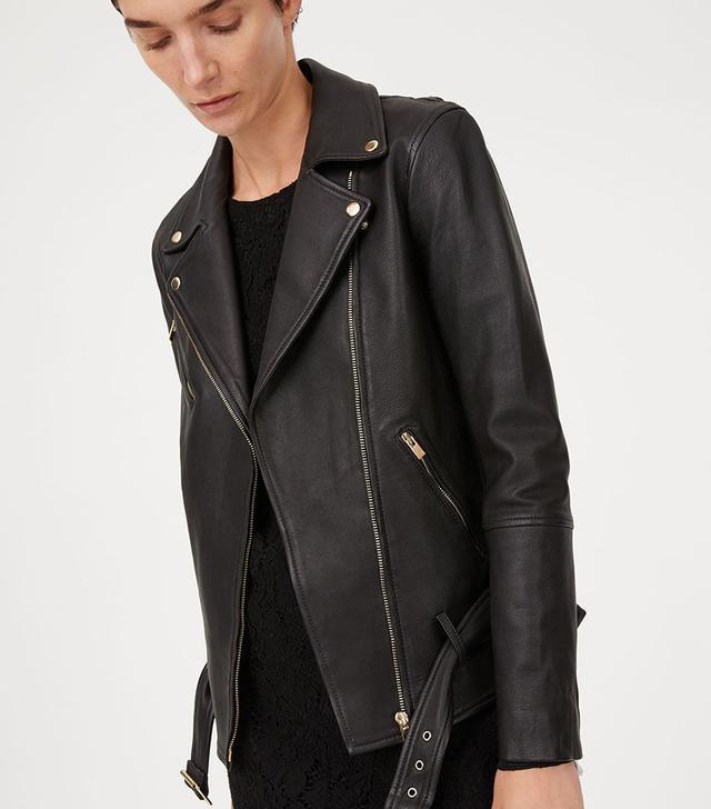 Club Monaco Cyrena Leather Jacket