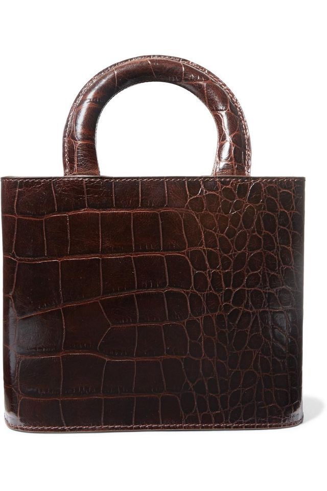 Staud Nic Croc-Effect Leather Tote