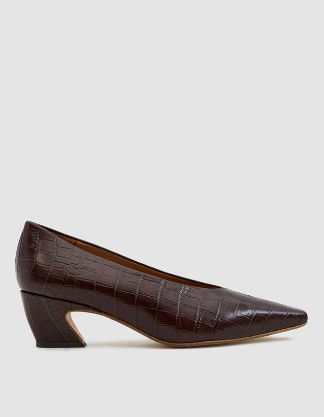 Miista Antonine Croc-Embossed Pumps