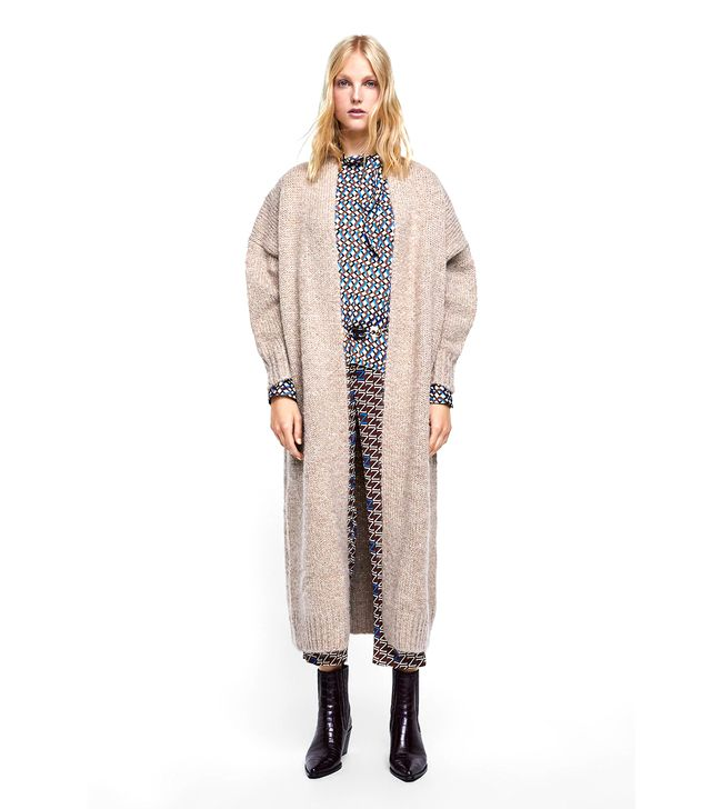 Zara Knit Long Coat
