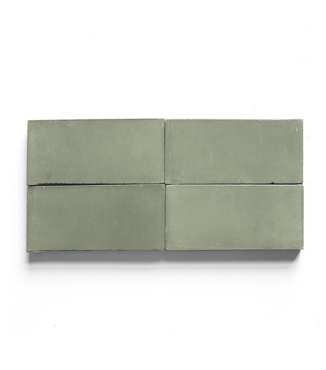 Clé Tile Vintage Jade Solid Encaustic Cement Tile