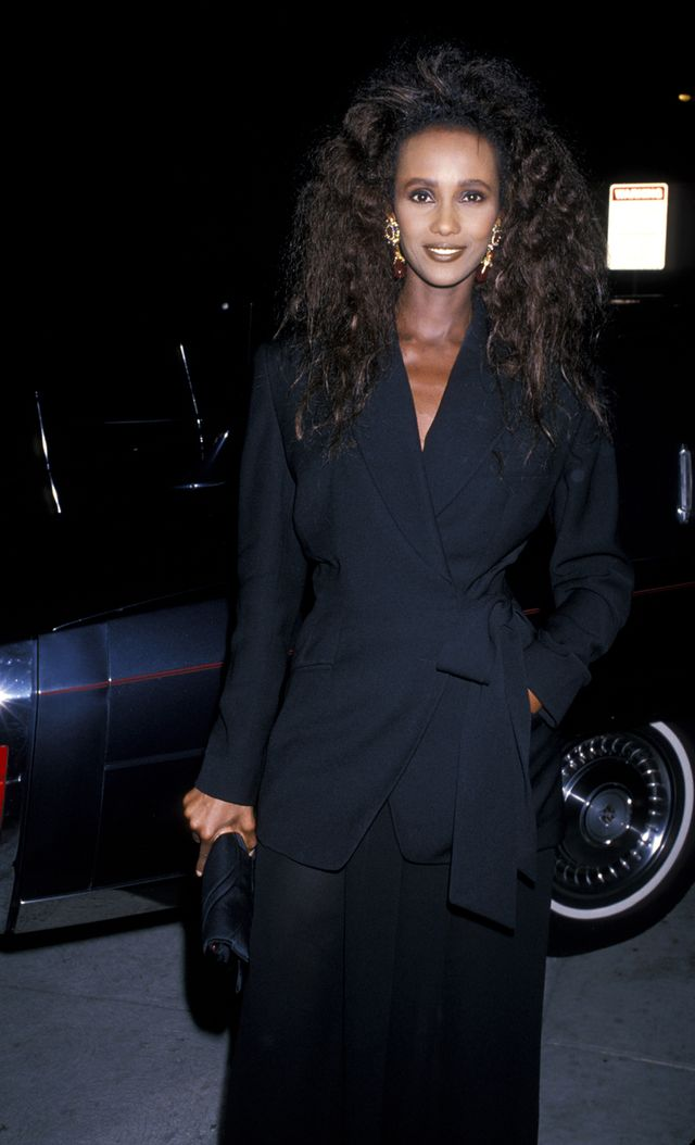'80s party outfits Iman
