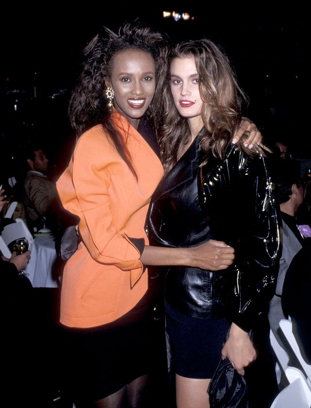 '80s party outfits Iman and CIndy Crawford