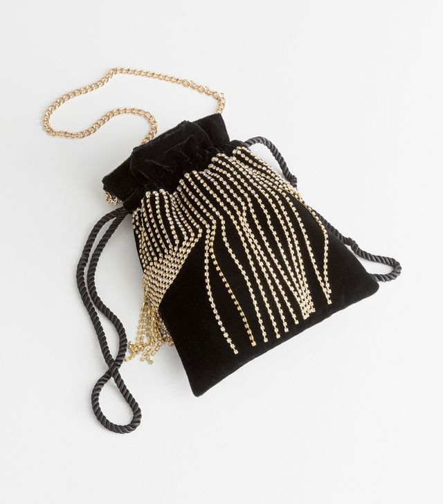 & Other Stories Jewelled Drawstring Bag