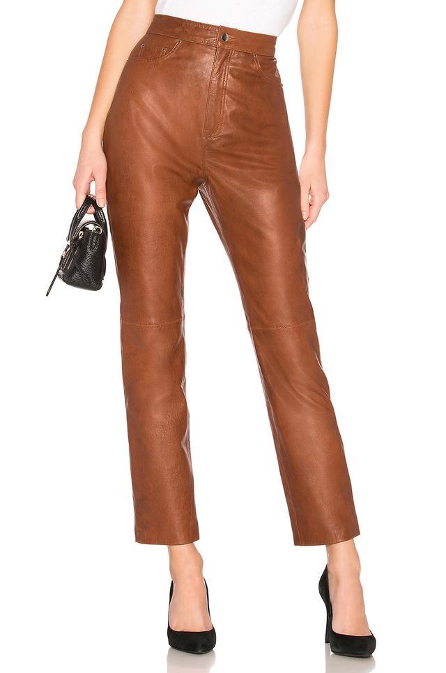 LPA Leather Straight Pants