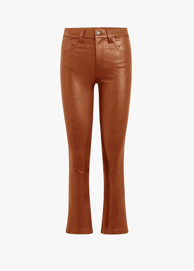 Joe's Stretch Leather Cropped Boot Pants