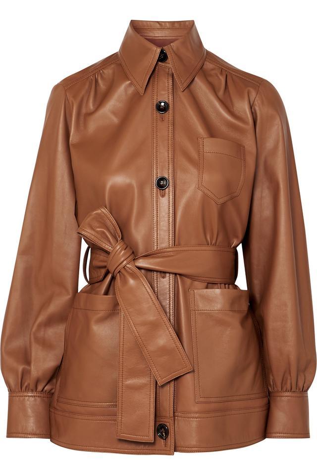 Joseph Saul Belted Leather Jacket