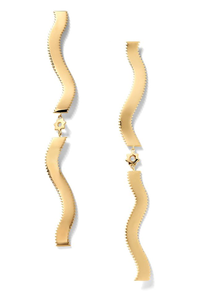 Alison Lou Double-Pappardelle Stelle Earrings