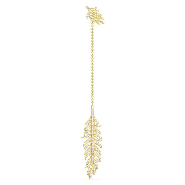 APM Monaco Yellow Mono Feather Long Earring