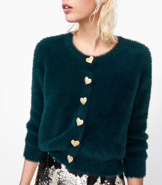 Zara Jacket with Heart Buttons