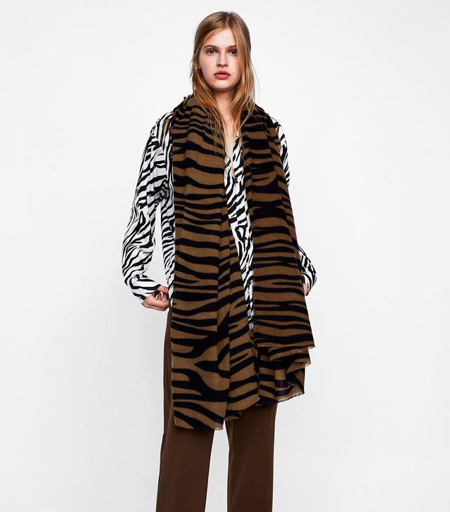 Zara Zebra Printed Scarf