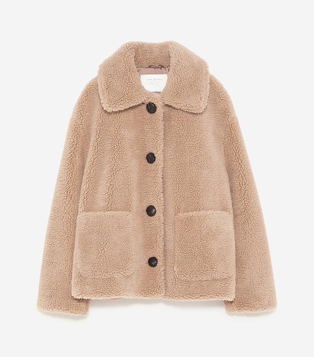 Zara Fleece Textured Jacket