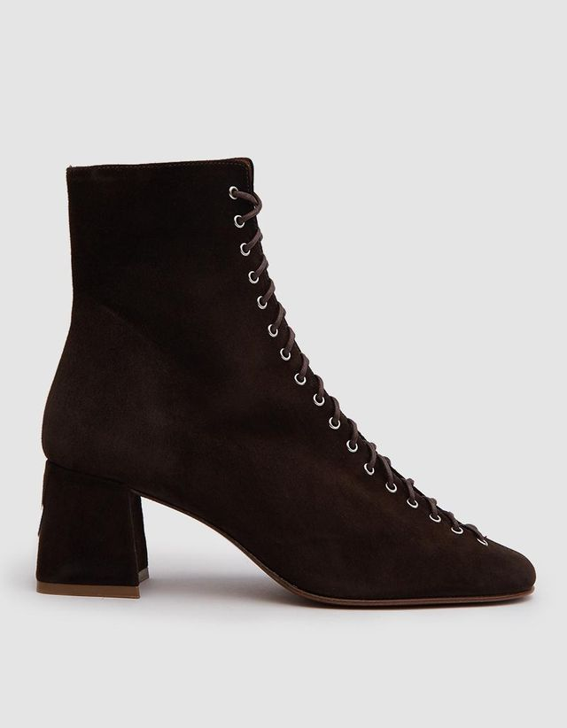 By Far Becca Suede Ankle Boots in Brown
