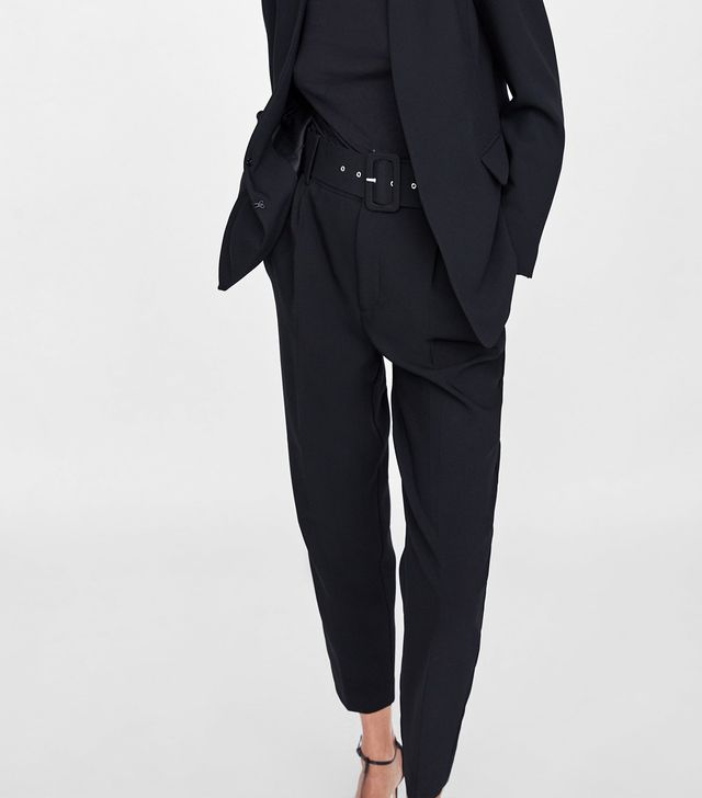 Zara High-Waisted Belted Pants