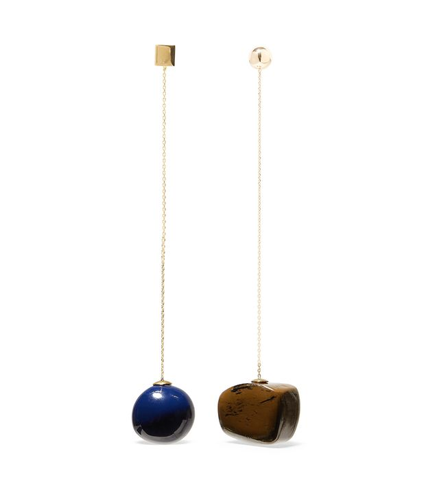 Jacquemus Dalila Gold-Tone and Enamel Earrings